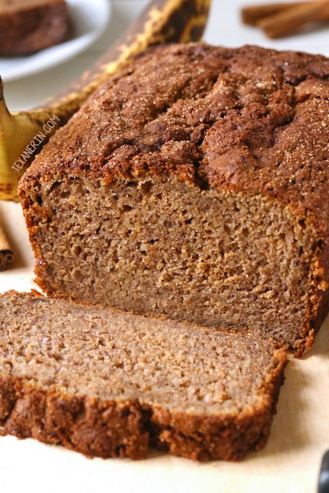 100% Whole Grain Banana Bread  – naturally dairy-free, moist and full of banana flavor! Can also be made with AP flour.