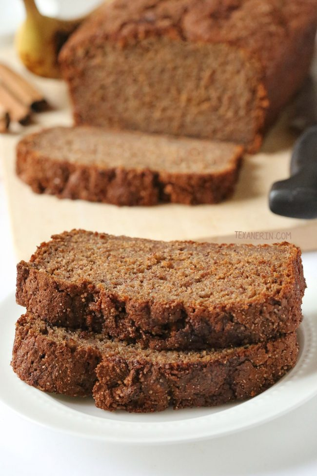 100% Whole Grain Banana Bread  – naturally dairy-free, moist and full of banana flavor! Can also be made with all-purpose flour.