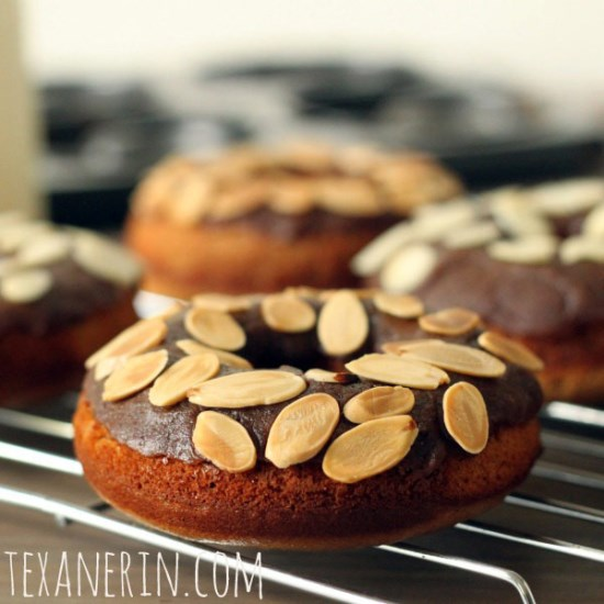 Gluten-free and Grain-free Cinnamon Roll Donuts | texanerin.com