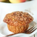 100% Whole Grain Cinnamon Apple Muffins