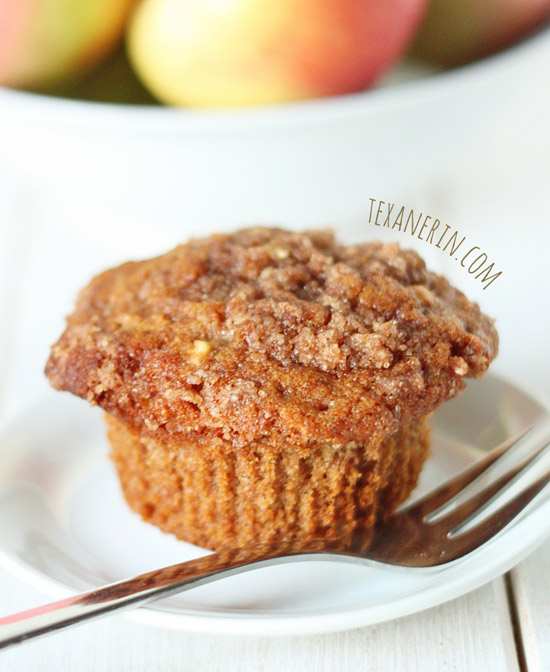 Cinnamon Apple Muffins – made healthier with whole grains, oil and less sugar! | texanerin.com