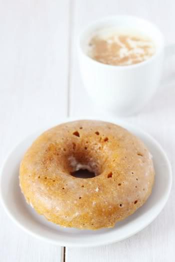 100% Whole Grain Baked Pumpkin Donuts