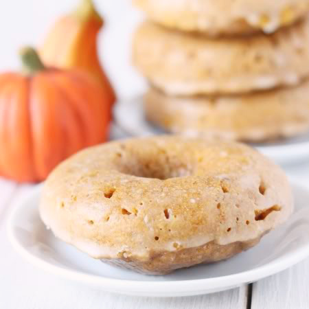100% Whole Grain Baked Pumpkin Donuts