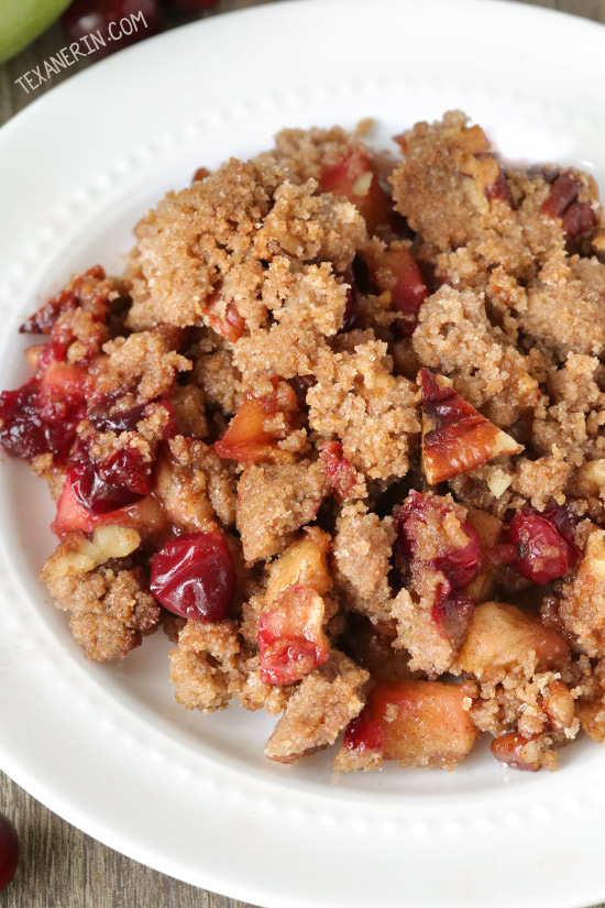 Cranberry Apple Pecan Crisp {vegan, dairy-free, 100% whole