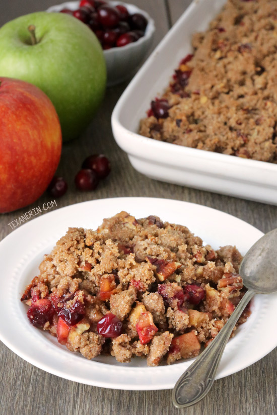 Cranberry Apple Pecan Crisp {vegan, dairy-free and 100% whole grain}
