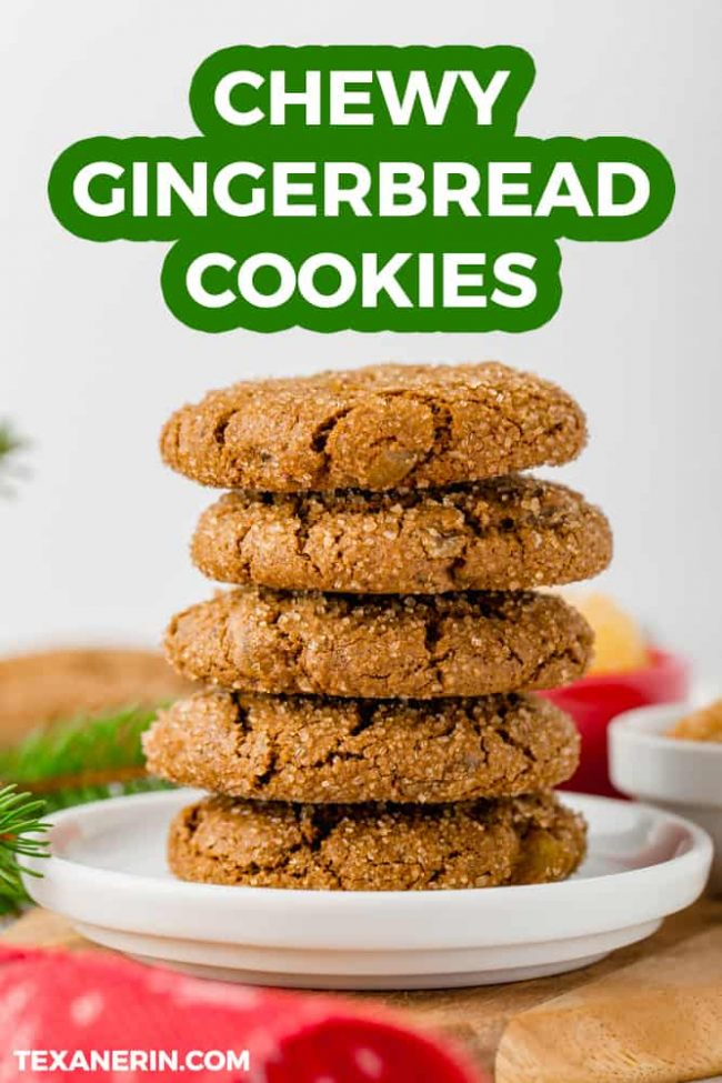 These chewy gingerbread cookies are 100% whole grain (but can also be made with all-purpose flour) and have a vegan option. Seriously the best ginger cookies ever!