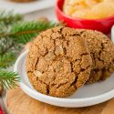 Chewy Gingerbread Cookies (vegan option)