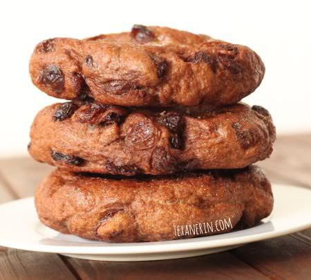 Cinnamon Raisin Bagels (100% whole wheat, vegan, dairy-free)
