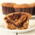 Nutella Swirl Banana Muffins (100% Whole Grain, Dairy-free)