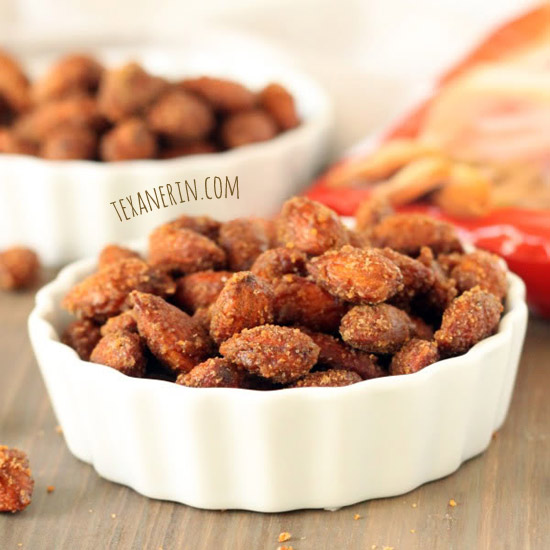 Healthier Maple Cinnamon Candied Almonds - Texanerin Baking