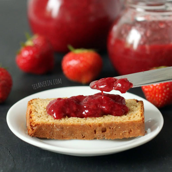 Honey Sweetened Strawberry Jam (without pectin and naturally paleo, dairy-free, gluten-free and grain-free)