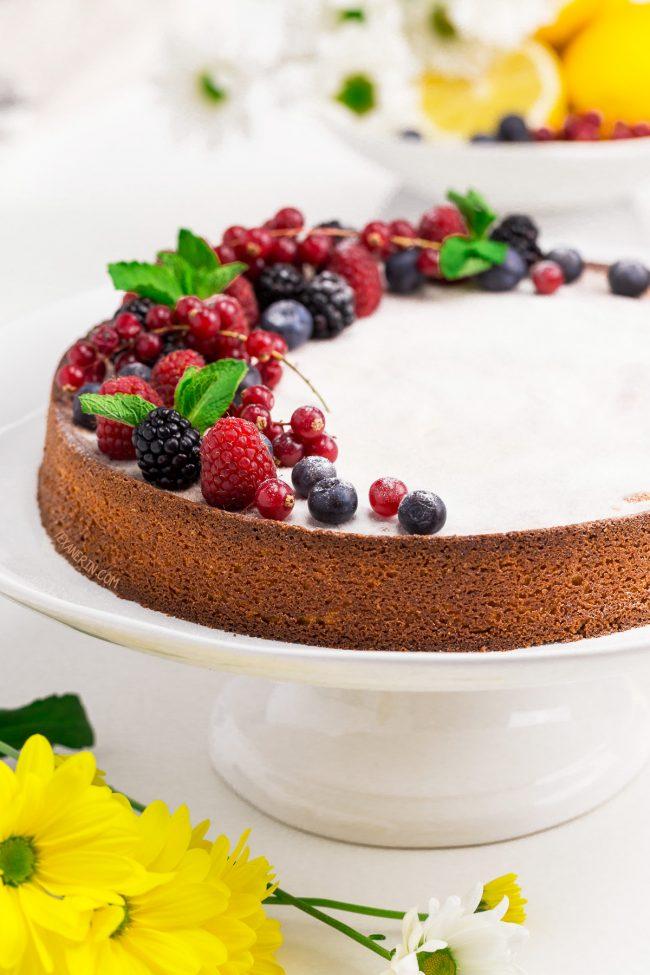 Lemon Caprese Cake With No Chocolate Recipe