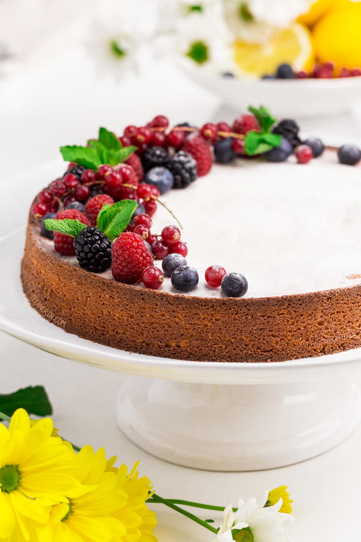 italian lemon almond flour cake grain free gluten free