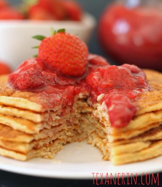 Protein Pancakes for Two - no added sugar, 100% whole grain (with a GF option) and good for you!