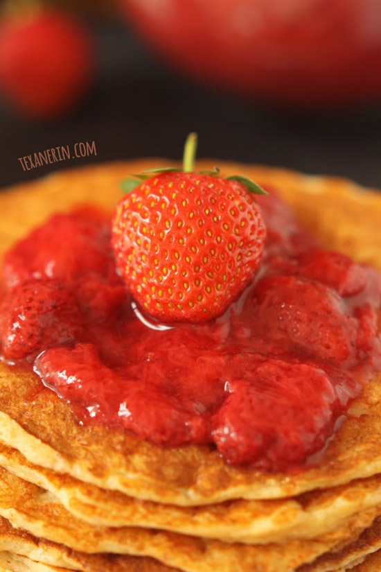 Super Simple Honey Sweetened Strawberry Sauce