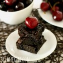 100% Whole Grain Chocolate Cherry Brownies