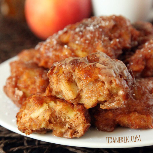 100% Whole Grain Apple Fritters - just as delicious as the more traditional kind! | texanerin.com