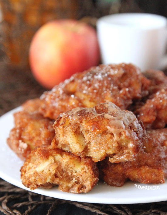 Quick and easy yeast-free apple fritters {100% whole grain and dairy-free}