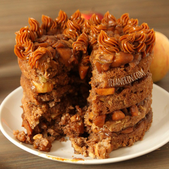 Apple Blondie Cake – this 100% whole grain apple blondie cake is bursting with apple flavor! You can't even tell it's been made healthier. | texanerin.com