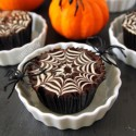 Chocolate Spiderweb Cupcakes (grain-free, dairy-free)