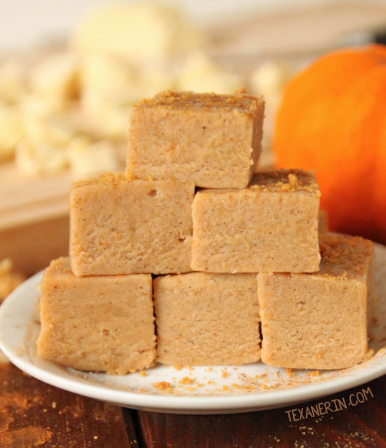 This white chocolate pumpkin fudge only takes a few minutes to make and is made in the microwave!