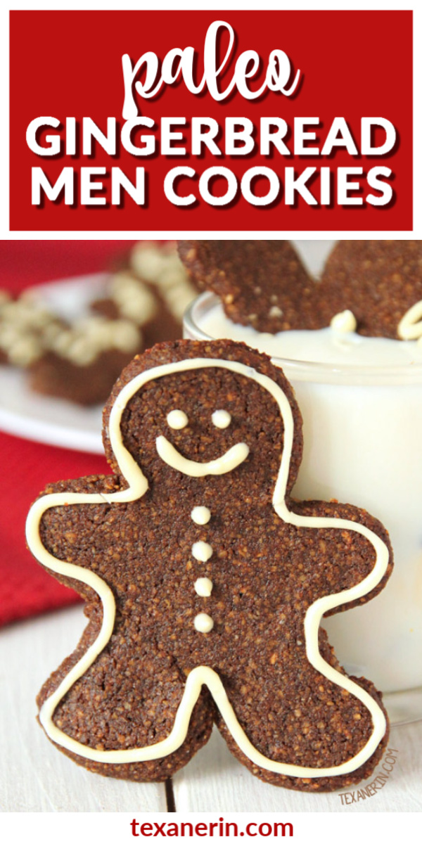 These paleo gingerbread men cookies are soft and chewy and are also grain-free, gluten-free and dairy-free!