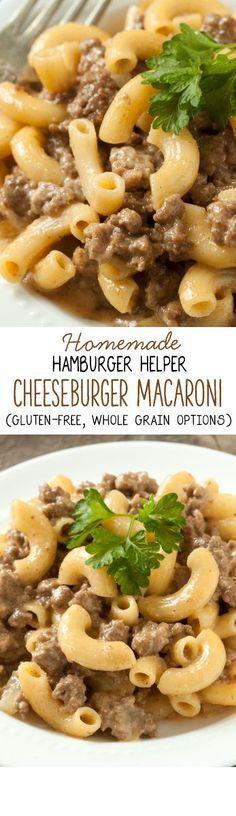 Homemade Hamburger Helper Cheeseburger Macaroni - so much better than the boxed kind!