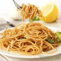 Lemon Garlic Spaghetti (whole grain, gluten-free options)