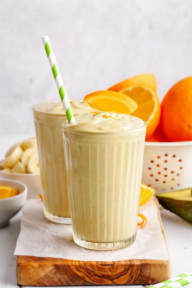 Banana Orange Smoothie Super Rich Creamy Delicious Texanerin Baking