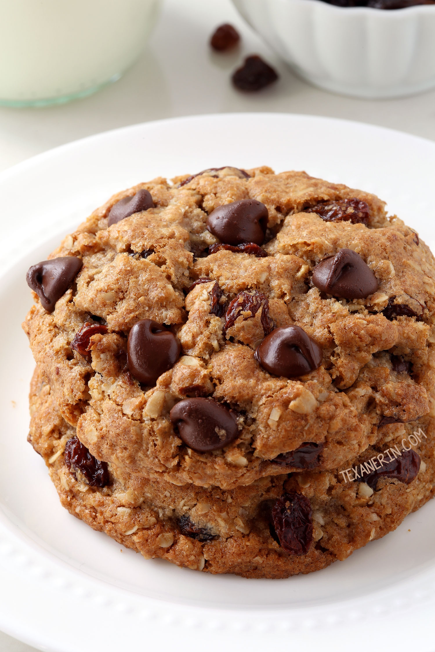 Chewy Whole Wheat Flour Chocolate Chip Cookies