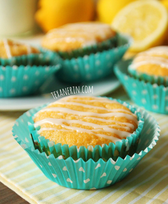 These lemon muffins are gluten-free and grain-free and taste like pound cake! | texanerin.com