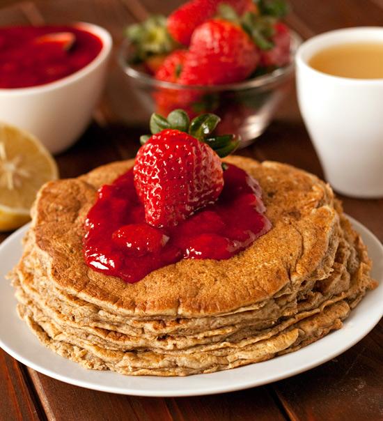 100% Whole Grain Lemon Ricotta Pancakes   texanerin.com