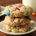 100% Whole Grain M&M Oatmeal Cookies