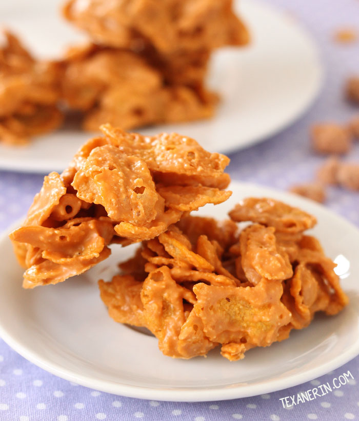 3-ingredient Peanut Butter Butterscotch Drops – so quick and easy to throw together!