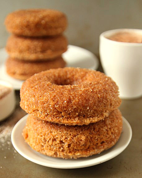 Whole Grain Cinnamon Sugar Doughnuts | texanerin.com