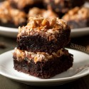 German Chocolate Inspired Brownies (100% whole grain, dairy-free)