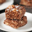 Coconut Peanut Butter Chocolate Bars (gluten-free, vegan, whole grain)