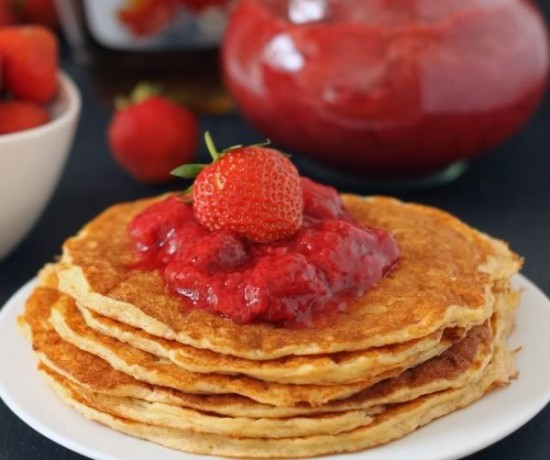 Honey Sweetened Strawberry Sauce