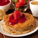 100% Whole Grain Lemon Ricotta Pancakes