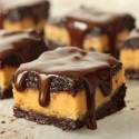 100% Whole Grain Peanut Butter Cup Filling Filled Chocolate Brownies