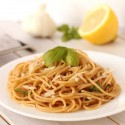 Whole Wheat Lemon Garlic Spaghetti