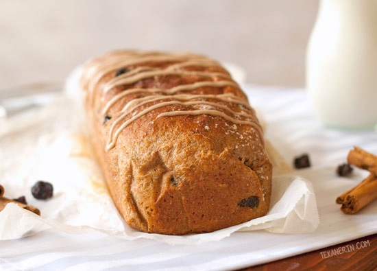 100% Whole Spelt Cinnamon Raisin Bread - relatively simple, healthy and coincidentally vegan and dairy-free!
