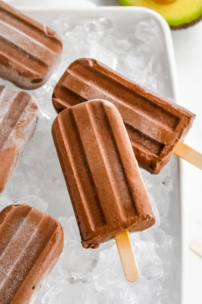 Healthy fudgesicles that are super creamy, rich and full of good for you ingredients! Can be made paleo / vegan.