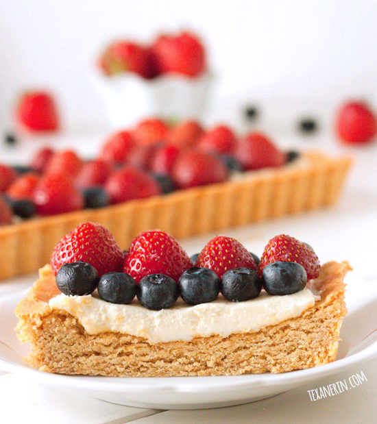 100% Whole Grain Greek Yogurt Berry Cookie Tart – can also be made with all-purpose flour.
