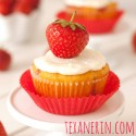 Grain-free / Gluten-free Strawberry Cupcakes