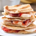 Peanut Butter, Strawberry and Banana Quesadillas (gluten-free, whole grain options)