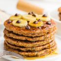 Gluten-free Banana Pancakes (gluten-free, vegan options)