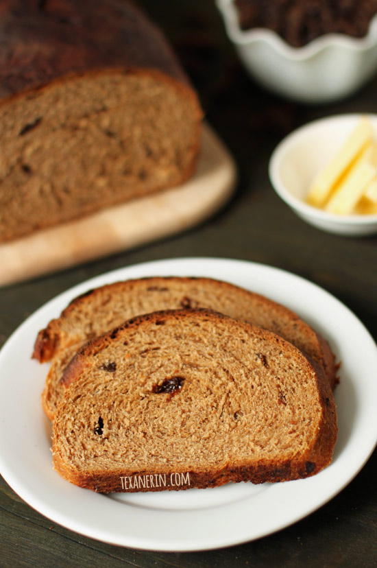 Buttermilk Whole Wheat Raisin Bread – relatively quick and simple! | texanerin.com