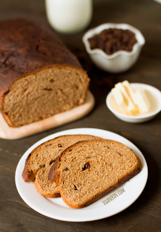 Buttermilk Whole Wheat Raisin Bread – simple, healthy and delicious! | texanerin.com
