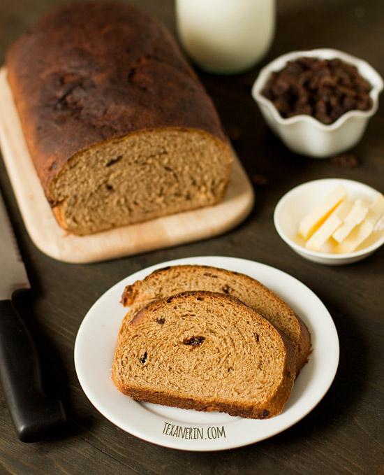 Buttermilk Whole Wheat Raisin Bread – healthy, simple and delicious! | texanerin.com